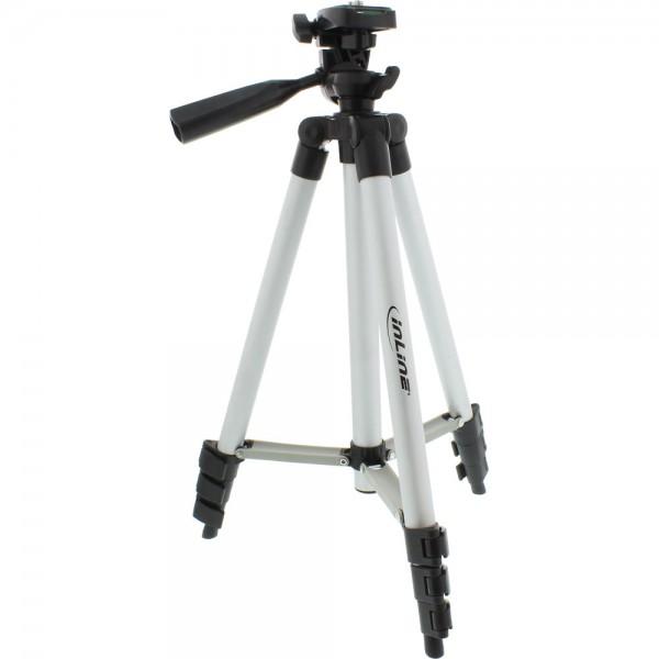 InLine® Stativ für Digitalkameras und Videokameras, Aluminium, Höhe max. 1,06m