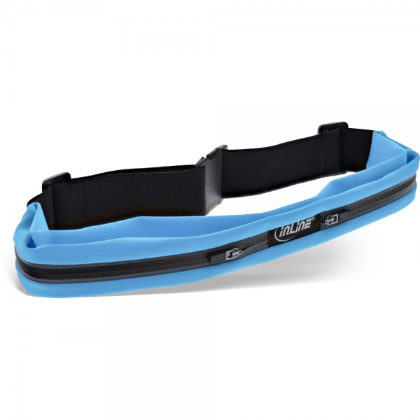 InLine® Sport Gürteltasche Duo blau, stretch, Taillenumfang 78-125cm