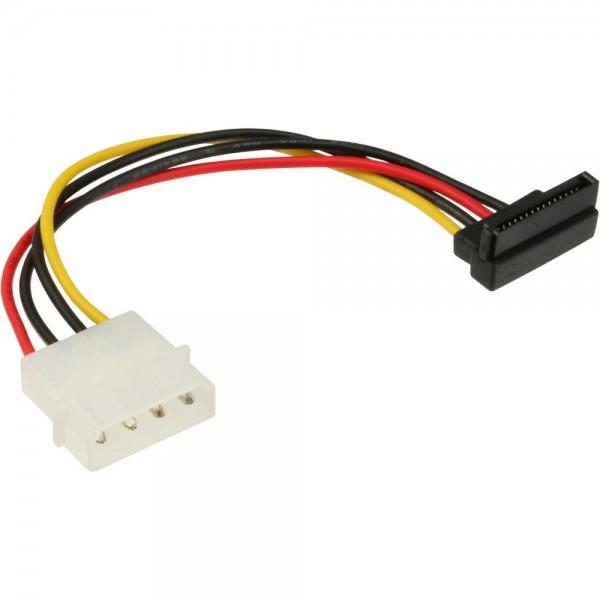 """InLine® SATA Stromadapterkabel, 1x 13,34cm (5,25"""") Buchse an 15pol SATA Stecker, nach unten abgewink"""