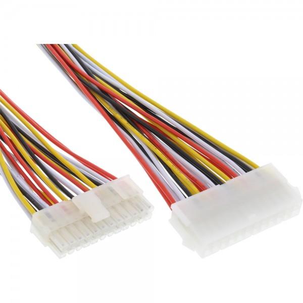 InLine® Strom Verlängerung intern, 24pol ATX Buchse auf 20+4pol Stecker, 0,45m