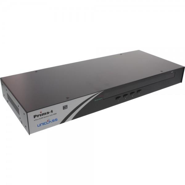 "InLine® KVM Switch, 4-fach, 48,26cm (19"") 1HE, USB oder PS/2, mit OSD"
