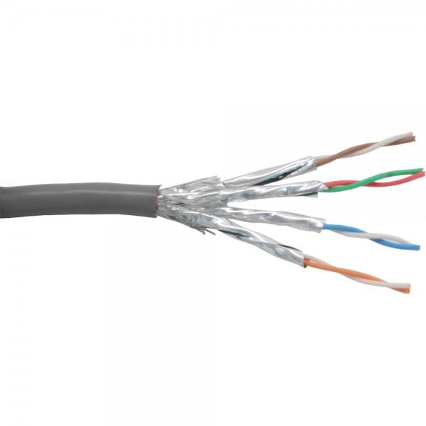 InLine® Patchkabel Cat.6 S/FTP (PiMf), grau, AWG27, PVC, CU, 100m