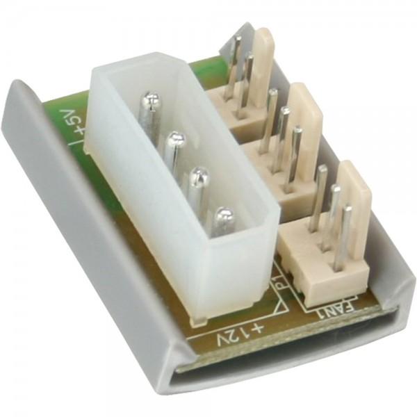 """InLine® Lüfter Power Adapterplatine, 1x 13,34cm (5,25"""") zu 2x Lüfter"""