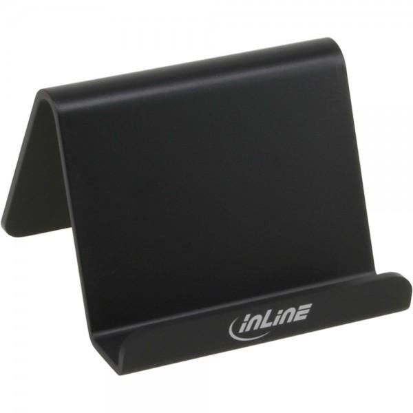 InLine® Smartphone und Handy Halterung für Schreibtisch / Regal, schwarz