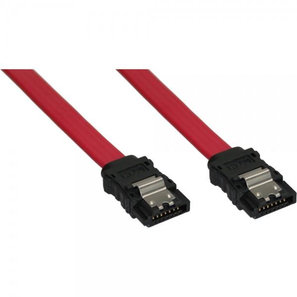 InLine® SATA Anschlusskabel, mit Sicherheitslasche, 0,3m