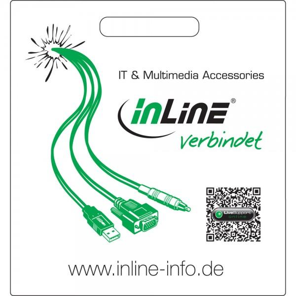 """InLine® Tragetasche """"...verbindet"""", schwarz"""