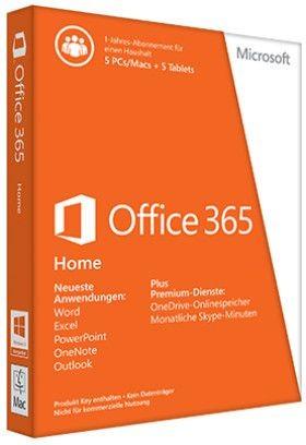 Microsoft Office 365 Home, 1 Jahr, ESD (deutsch) (PC/MAC)
