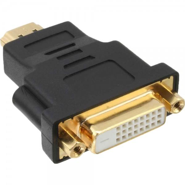 InLine® HDMI-DVI Adapter, HDMI Stecker auf DVI Buchse, 4K2K kompatibel, vergoldete Kontakte