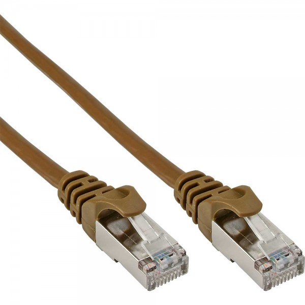 InLine® Patchkabel, SF/UTP, Cat.5e, braun, 10m