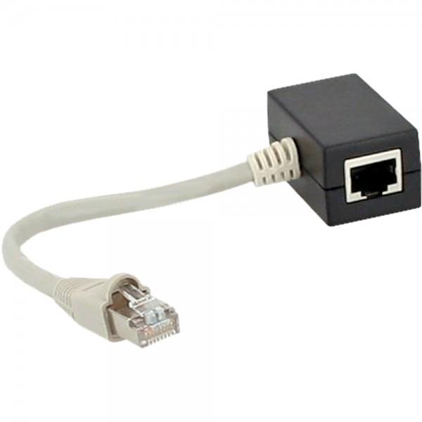 InLine® ISDN Verteiler, 2x RJ45 Buchse, 15cm Kabel, mit Endwiderständen