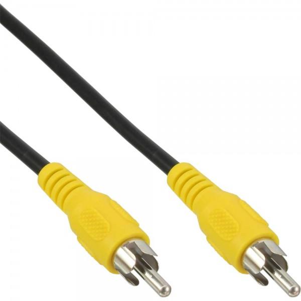 InLine® Cinch Kabel, Video, 1x CinchStecker / Stecker, Steckerfarbe gelb, 10m