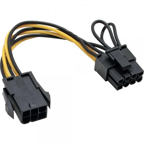 InLine® Stromadapter intern, 6pol zu 8pol für PCIe (PCI-Express) Grafikkarten, schwarz