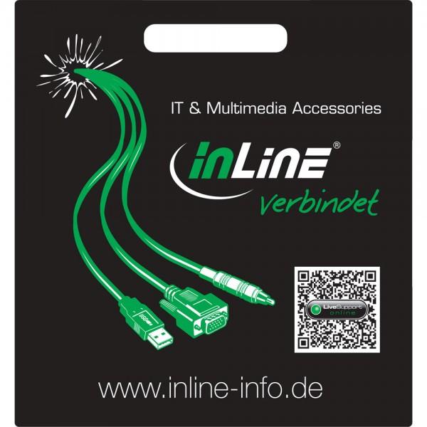 """InLine® Tragetasche """"... verbindet"""", schwarz"""