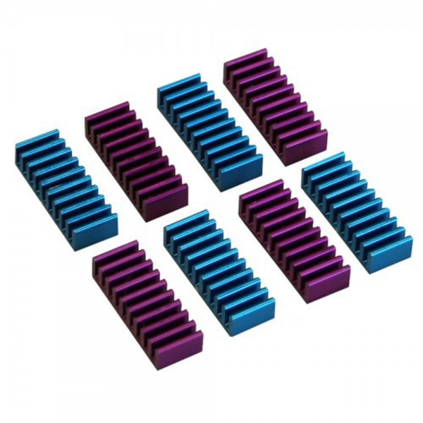 InLine® RAM-Kühler selbstklebende Kühlrippen, 8 Stück