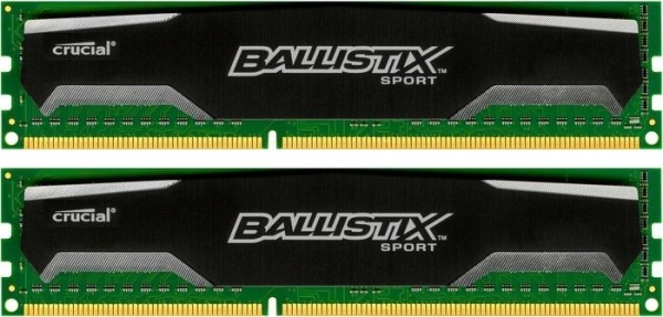 DDR3 16GB KIT 2x8GB PC 1600 Crucial Ballistix Sport BLS2CP8G3D1609DS1S00CEU