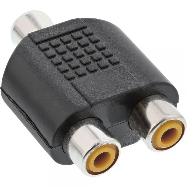 InLine® Audio Adapter, 1x Cinch Buchse an 2x Cinch Buchse