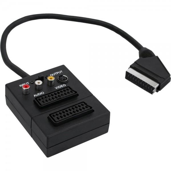 InLine® Scart Adapterkabel, Scart Stecker an 2x Scart Buche und 3x Cinch Buchse und 1x S-VHS Buchse,