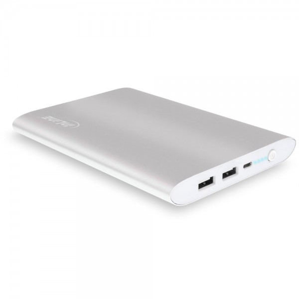 InLine® USB Zusatzakku PowerBank 16000mAh, silber