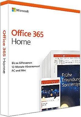 Microsoft Office 365 Home, 1 Jahr, PKC (deutsch) (PC/MAC) (6GQ-01054)
