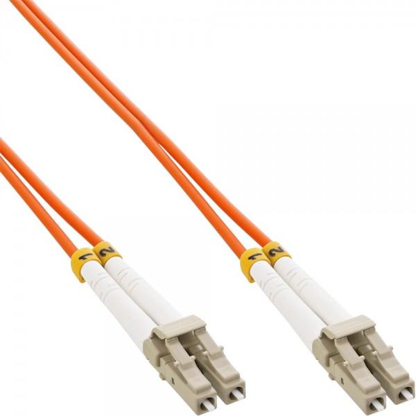 InLine® LWL Duplex Kabel, LC/LC, 50/125µm, OM2, 1m