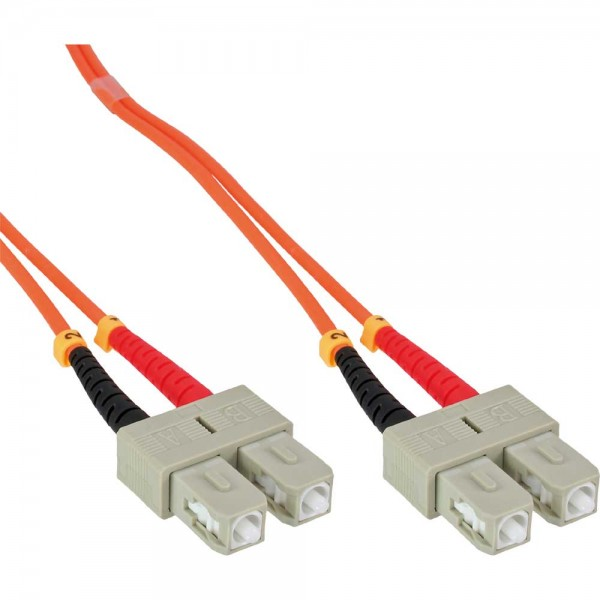 InLine® LWL Duplex Kabel, SC/SC, 62,5/125µm, OM1, 10m