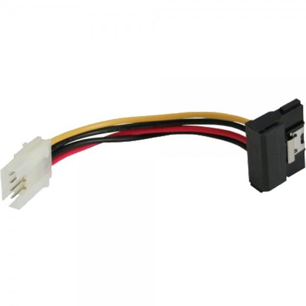 """InLine® SATA Stromadapterkabel, 1x 8,89cm (3,5"""") Buchse an 15pol SATA Stecker gewinkelt mit Lasche,"""