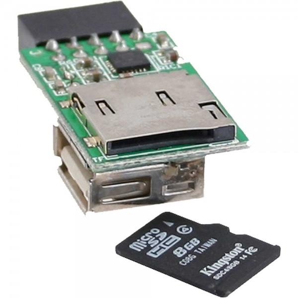 InLine® Card Reader, USB 2.0, intern, für MicroSD Karten