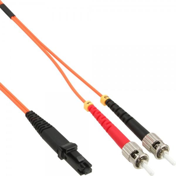 InLine® LWL Duplex Kabel, MTRJ/ST, 50/125µm, OM2, 3m