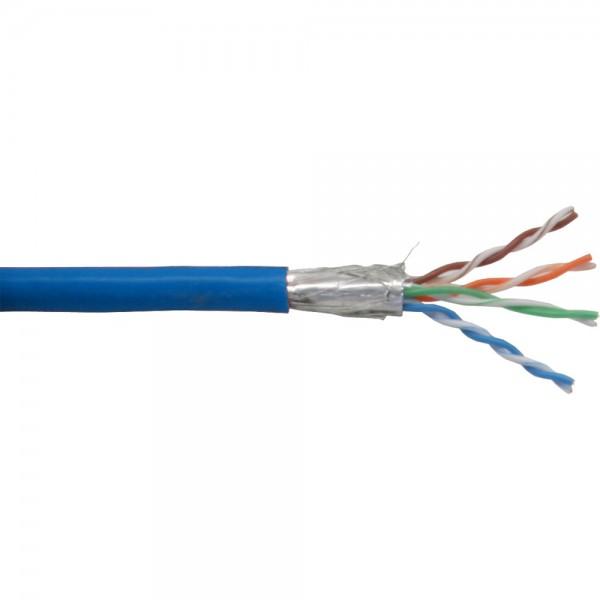 InLine® Patchkabel Cat.5e, blau, SF/UTP, AWG26, PVC, 100m