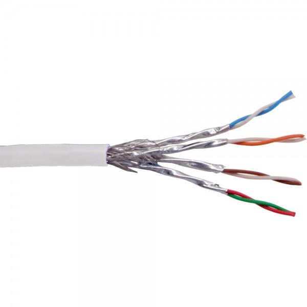 InLine® Patchkabel Cat.6 S/FTP (PiMf), weiß, AWG27, PVC, CU, 100m