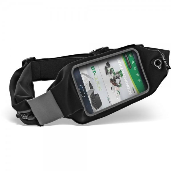 InLine® Sport Gürteltasche Mobile, mit Fenster, schwarz, stretch, Taillenumfang 78-130cm