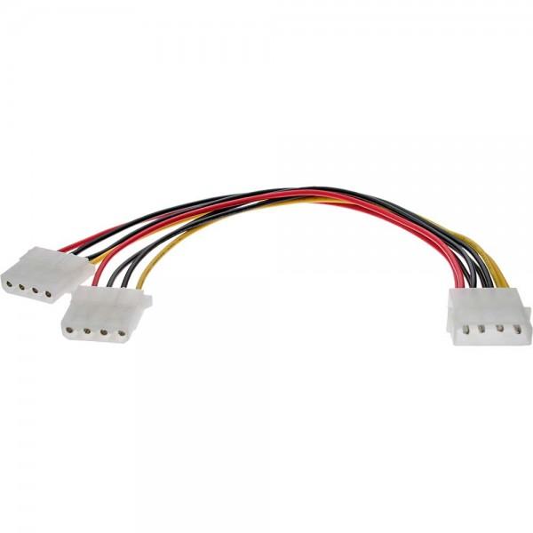 "InLine® Strom Y-Kabel intern, 1x 13,34cm (5,25"") an 2x 13,34cm (5,25""), bulk"