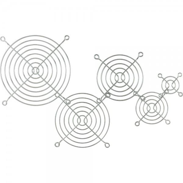 InLine® Lüftergitter Metall, verchromt, 80x80mm