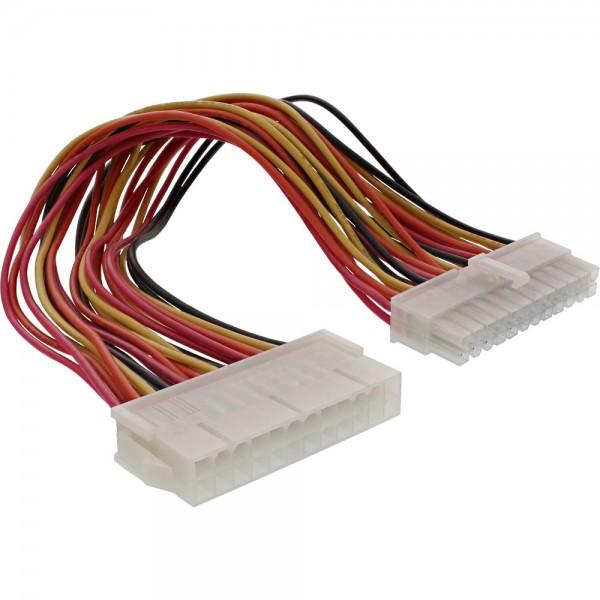 InLine® Strom Verlängerung intern, 24pol ATX Stecker / Buchse, Netzteil zu Mainboard, 0,3m