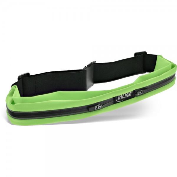 InLine® Sport Gürteltasche Duo grün, stretch, Taillenumfang 78-125cm