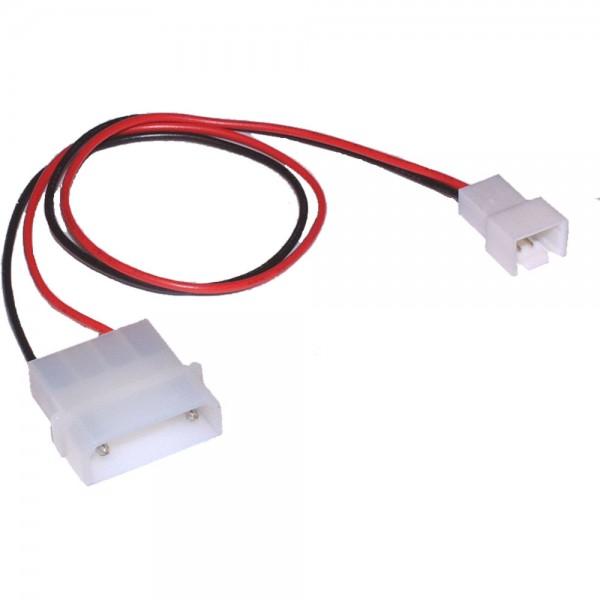 InLine® Lüfter Adapterkabel, 12V zu 7V, 0,3m