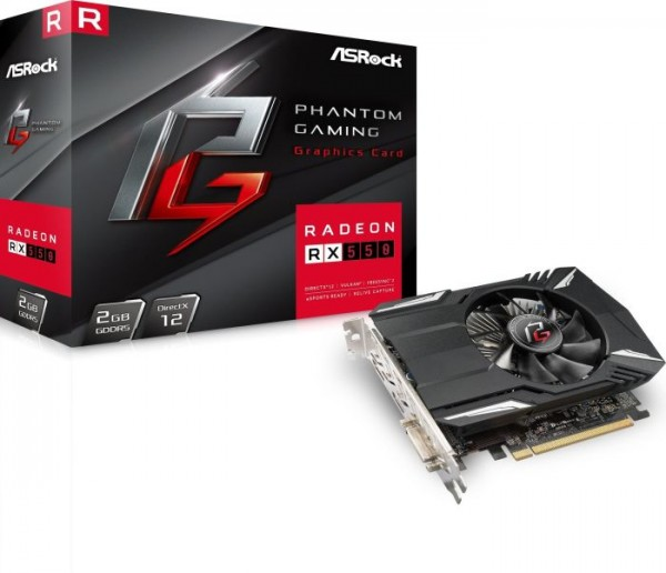 VGA Asrock Radeon RX 550 2GB Phantom Gaming