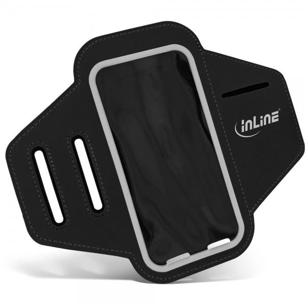 InLine® Sport Armband mit Smartphone-Tasche, schwarz